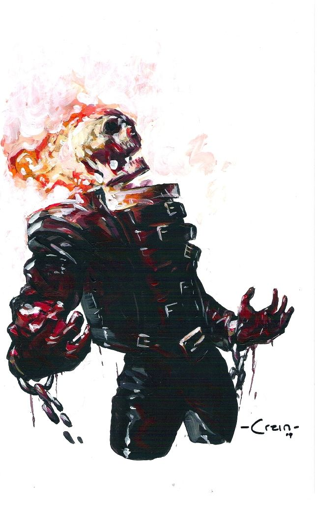 Ghost Rider By Clayton Crain With Images Ghost Rider Marvel