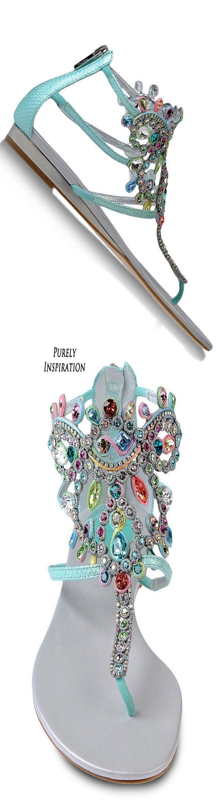 Tendance & idée Chaussures Femme 2016/2017 Description Rene' Caovilla ~ Jewel Embellished Summer Sandals