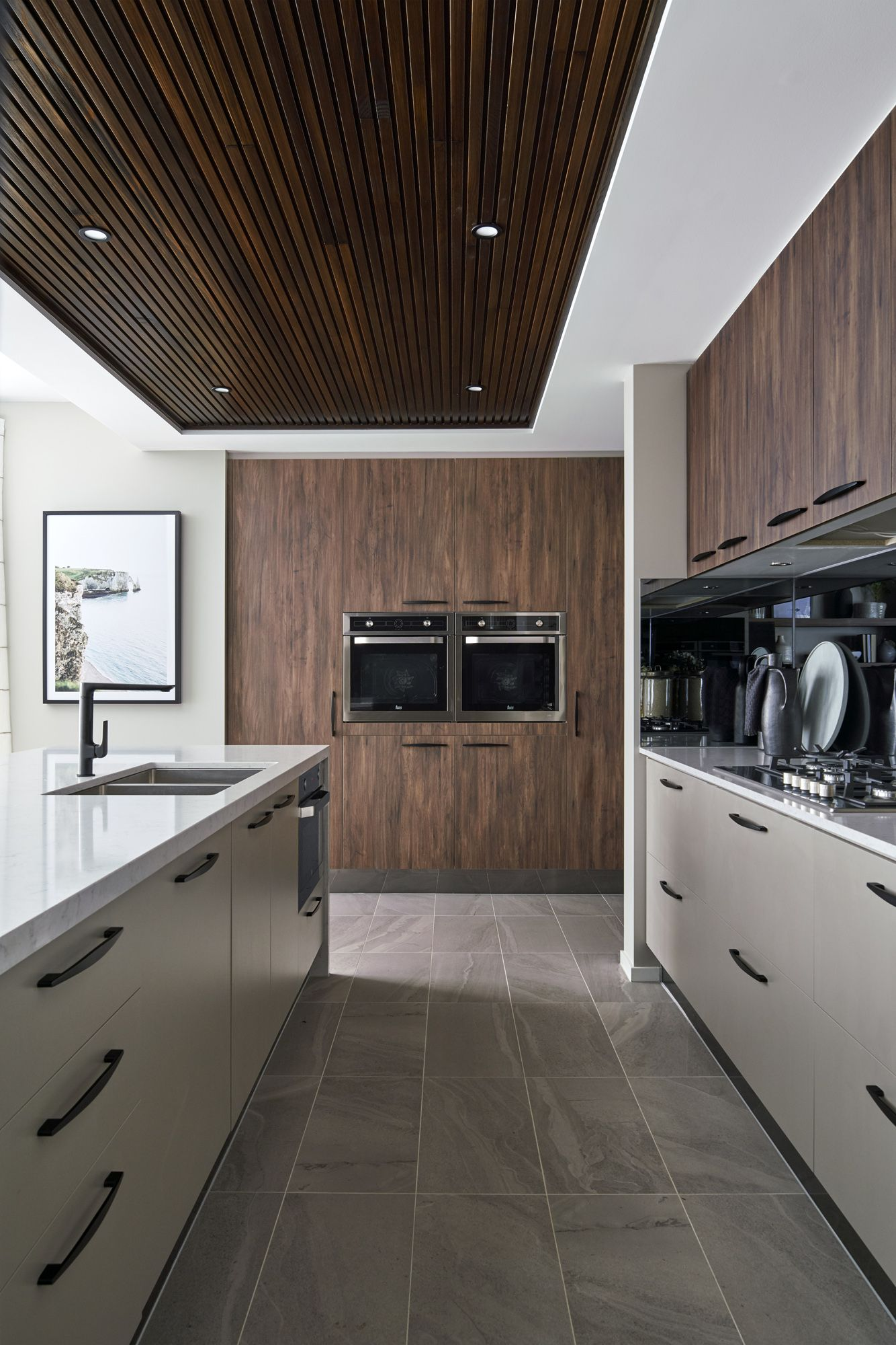 add an urban feel to your kitchen with timber cabinetry ceiling feature as seen in the on kitchen remodel apps id=23090