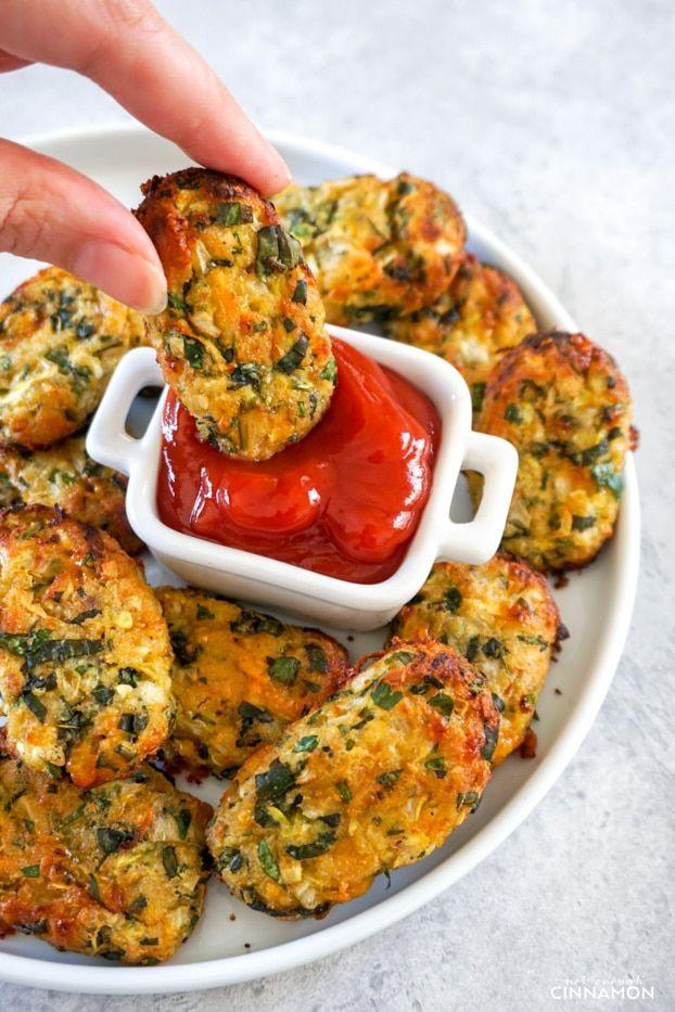 Photo of Cheesy & Healthy Zucchini Tots Recipe – Not Enough Cinnamon