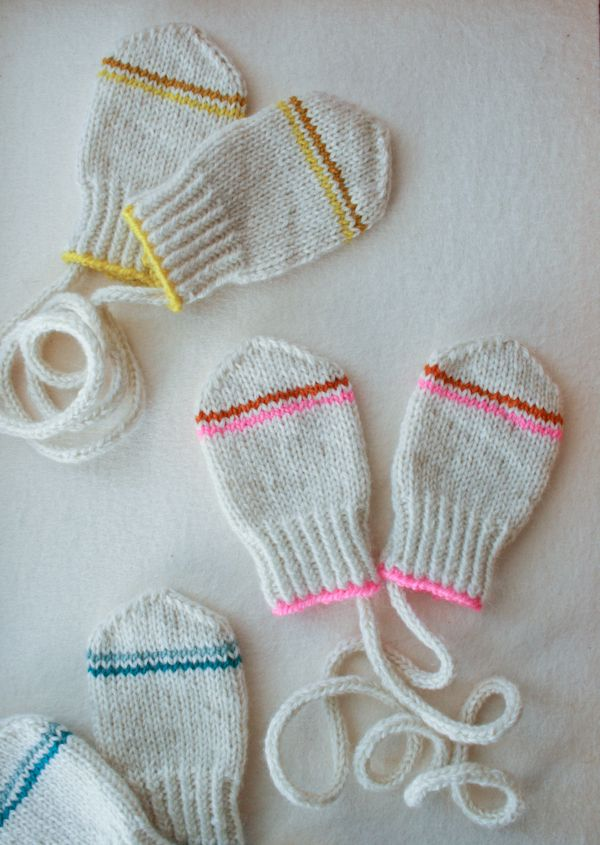 Laura S Loop Infant Mittens Knitting Crochet Sewing