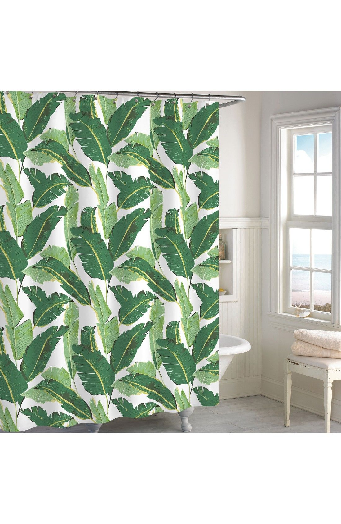 Miami Leaf Shower Curtain | Bathroom | Pinterest | Miami, Leaves and ...