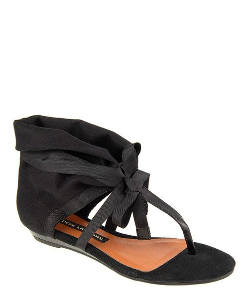 Take a look at the Black Sudoku Sandal on #zulily today!