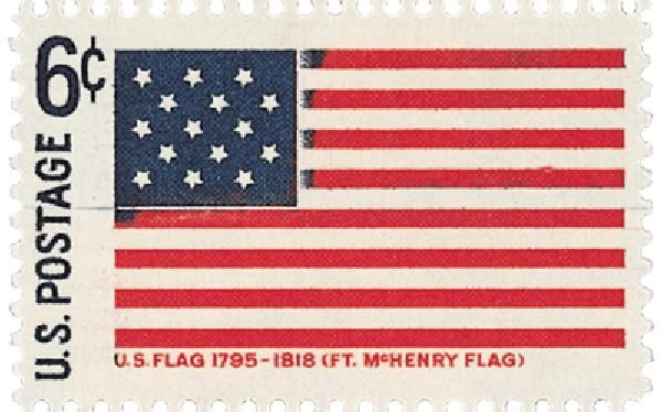 1968 Historic Flag Ft Mchenry 6c Historical Flags Mchenry Flag