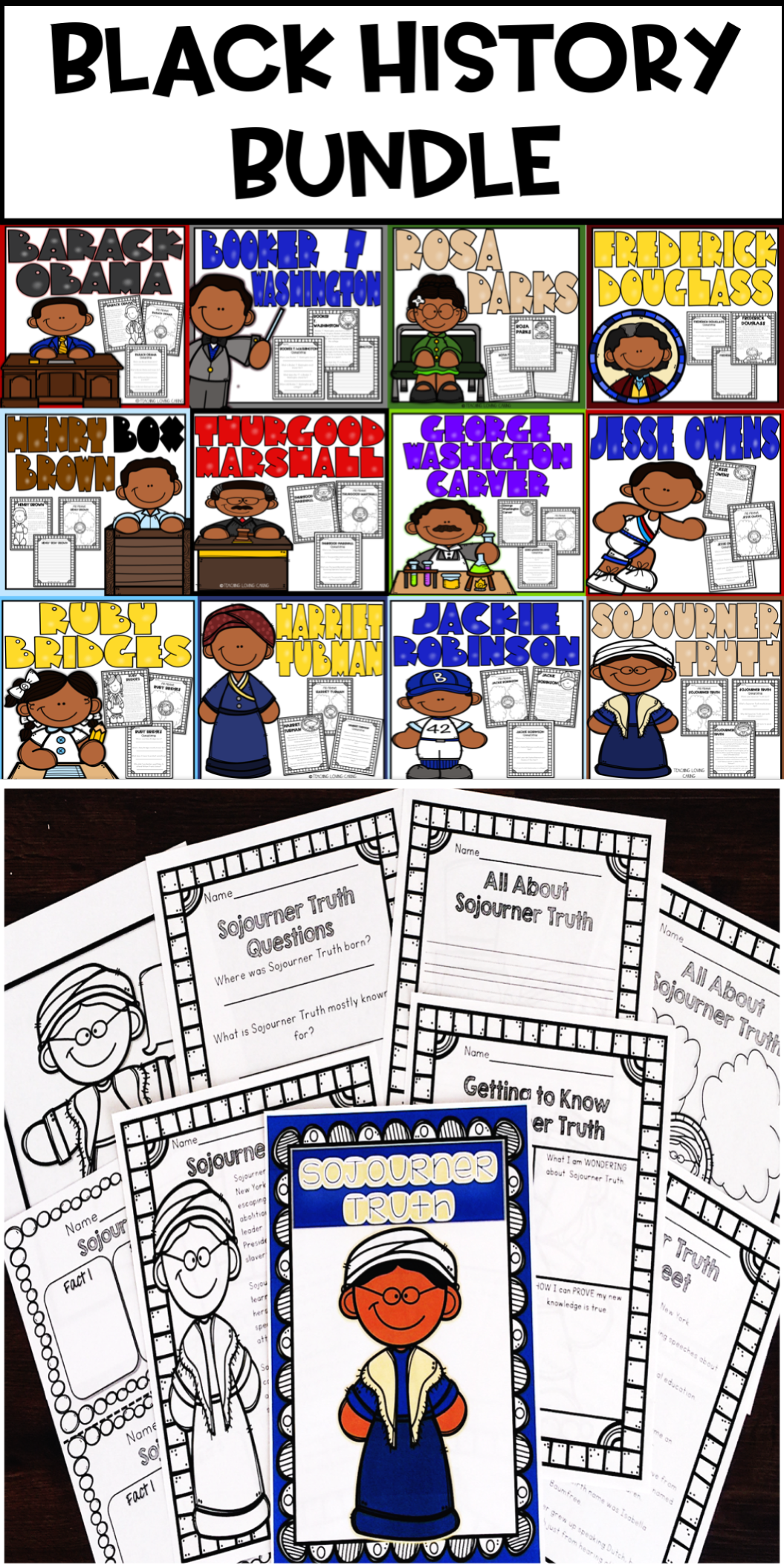 Black History Month Bundle 12 Historical Figures In