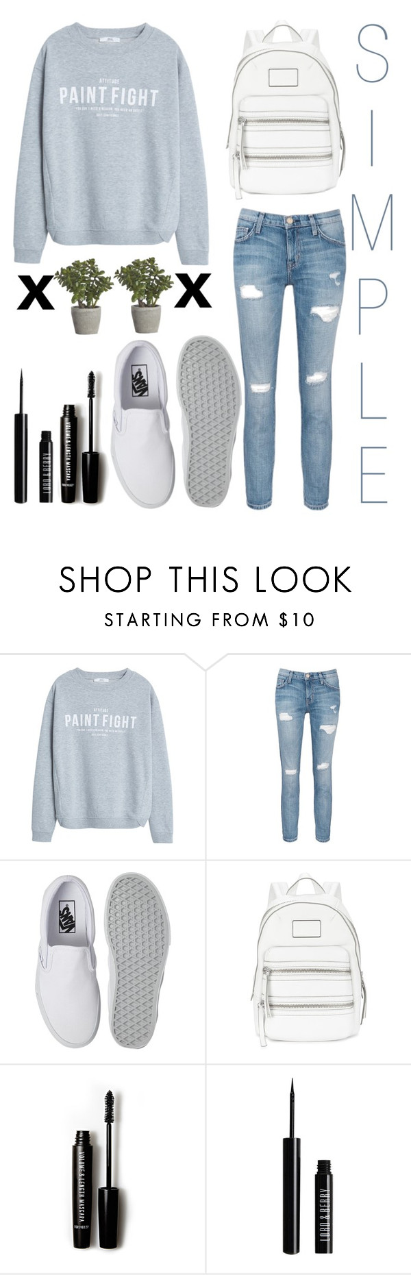 """""""19#"""" by julietabazan ❤ liked on Polyvore featuring MANGO, Current/Elliott, Vans, Marc by Marc Jacobs, Forever 21, Lord & Berry and Crate and Barrel"""
