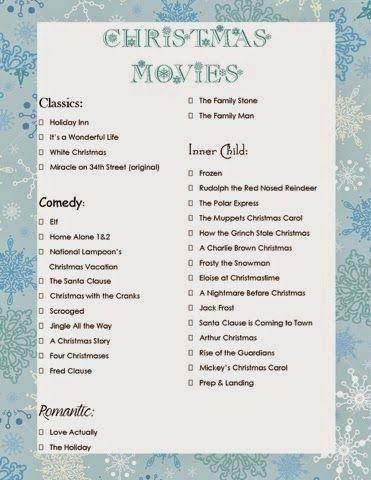 Emily M.'s Christmas Movie Checklist