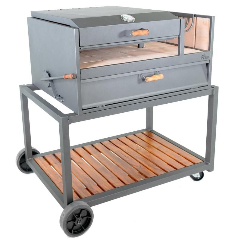 Outdoor Kitchen With Charcoal Grill And Smoker