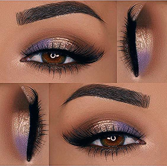 Photo of I like the purple detail for brown eyes