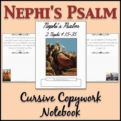 Nephi S Psalm Copywork Notebook