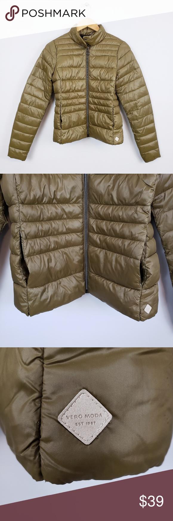 Vero Moda Military Green Puffer Jacket Green Puffer Jacket Vero Moda Thin Jacket [ 1740 x 580 Pixel ]