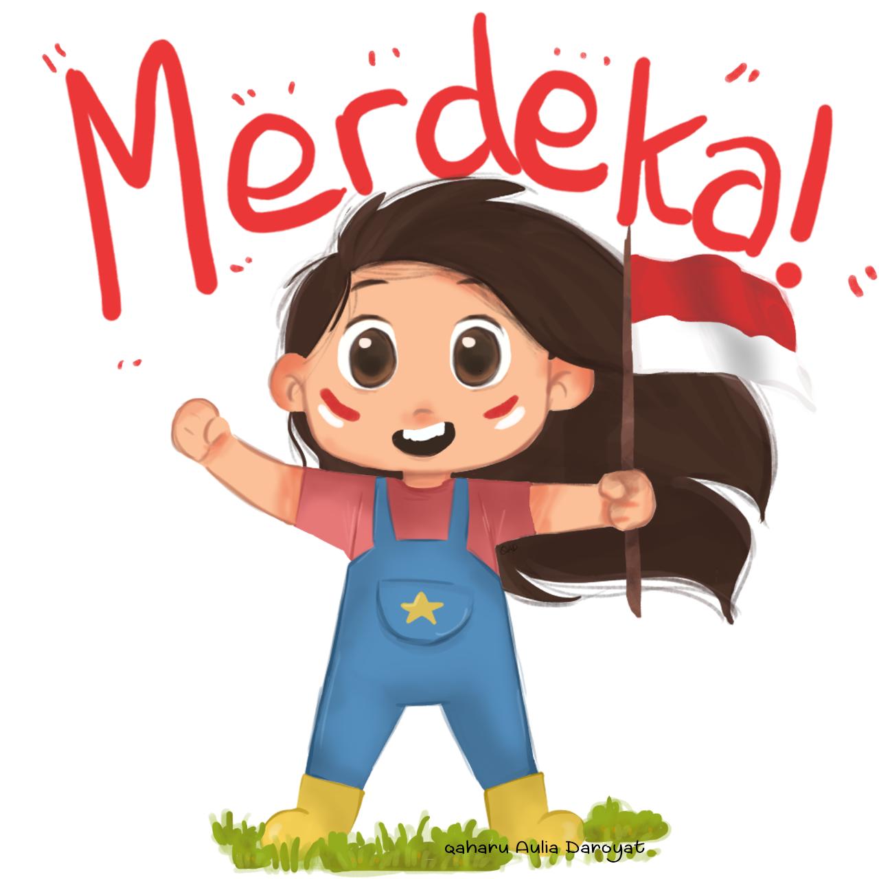 Merdeka Indonesian Independence Day Indonesian Independence Children Illustration Custom Illustration