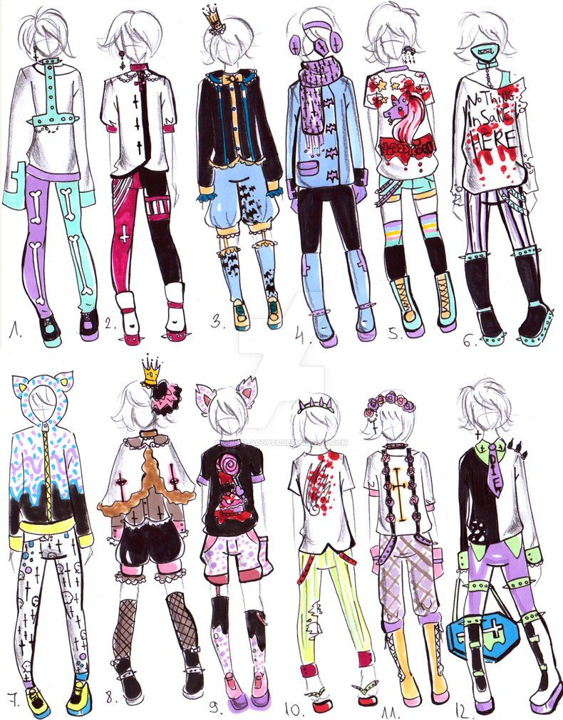Tomboy Outfits Pastel Goth Outfits Fashion Design Drawings Anime Outfits