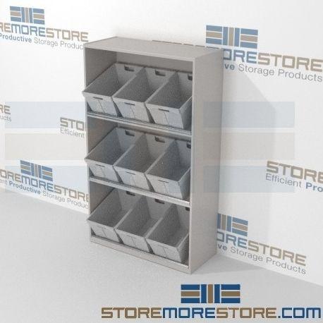 bulk mail sorting bins with tilted angle flat shelving rh pinterest com
