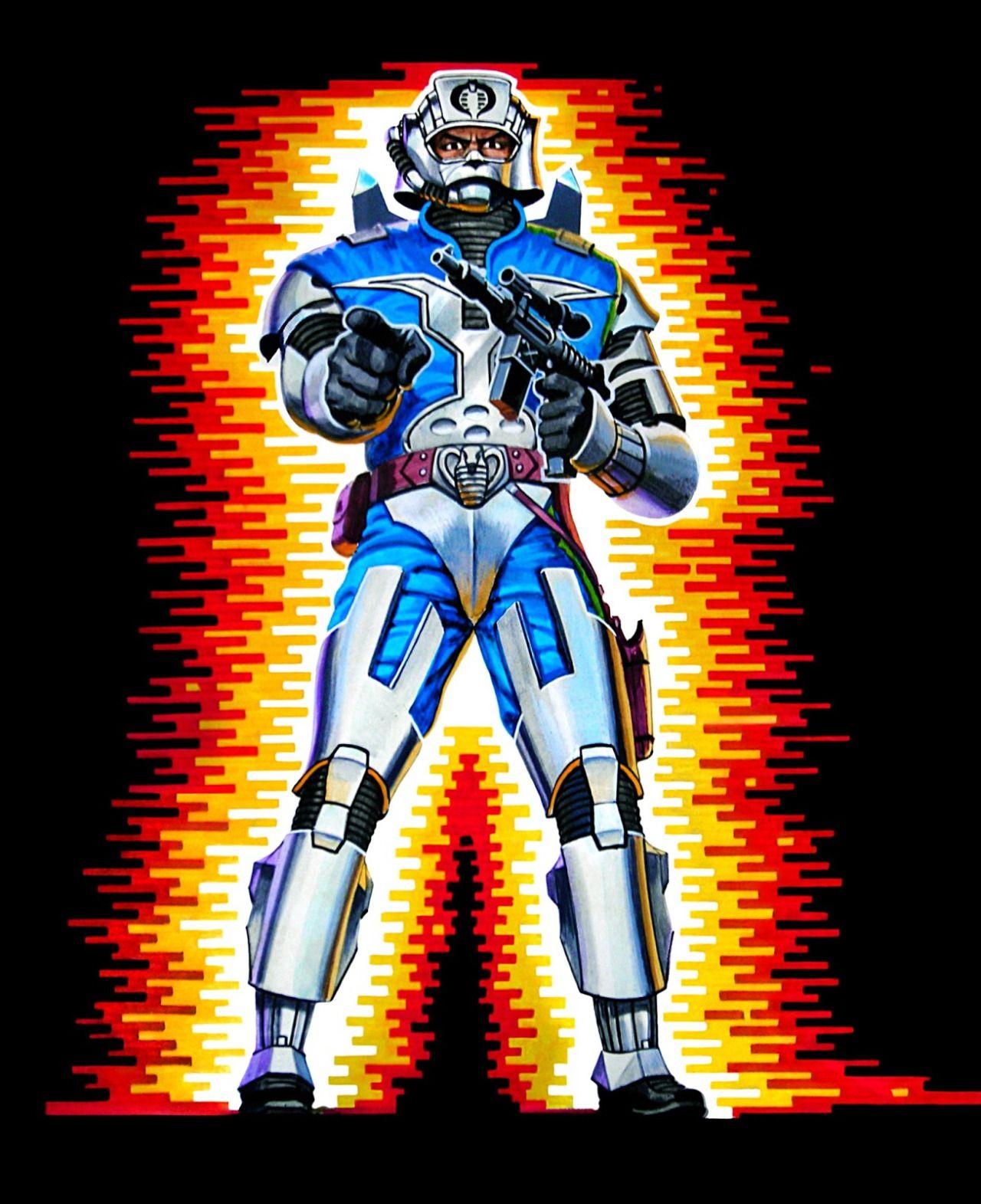Battle Armor Cobra Commander Packaging Artwork - Hector Garrido