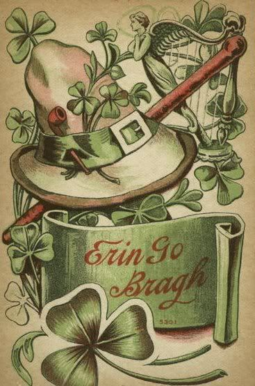 Vintage greenis will find its way onto my tablescapejust don divided back postcard erin go bragh st m4hsunfo