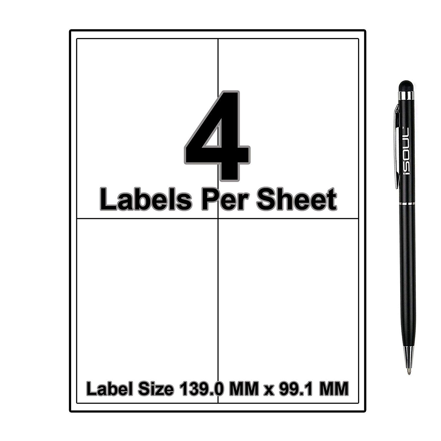 Shipping labels, Address labels, iSOUL 50 Sheets A4 Mailing
