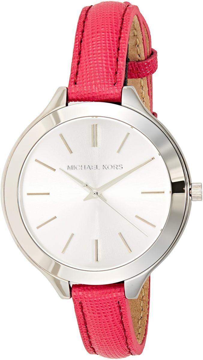 اشتري مايكل كورس ساعة للنساء بمينا لون فضي و سوار من الجلد Mk2272 ساعات السعودية سوق Watches Women Michael Kors Kors Watches Michael Kors Watch