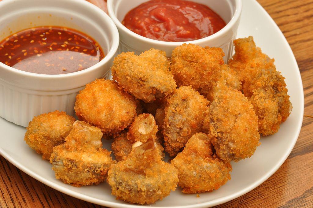 Mmm…fried mushrooms Airfryer recepten, Vegetarische