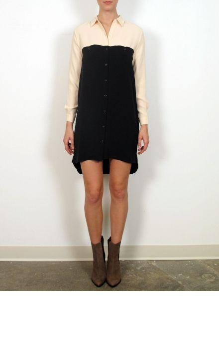 Jenni Kayne black and peach shirt dress