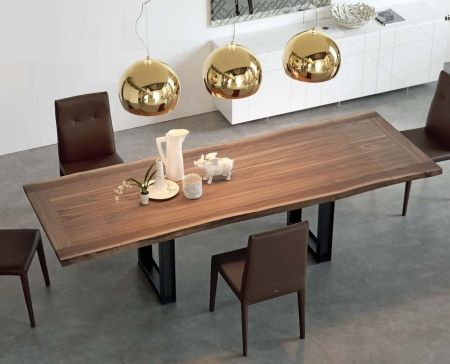 Expandable Dining Table sigma drive expandable dining table - walnut with varnished metal