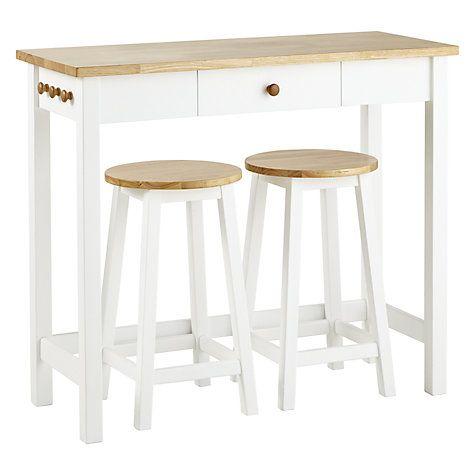 Beautiful Adler Bar Table U0026 Stools, Cream