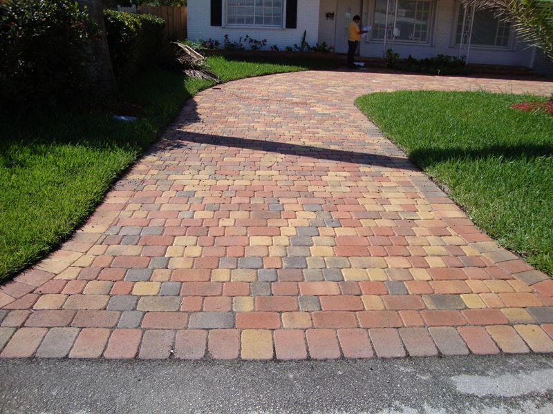 Running Bond Brick Paver Patterns With 3 Colors Brick For Pathways