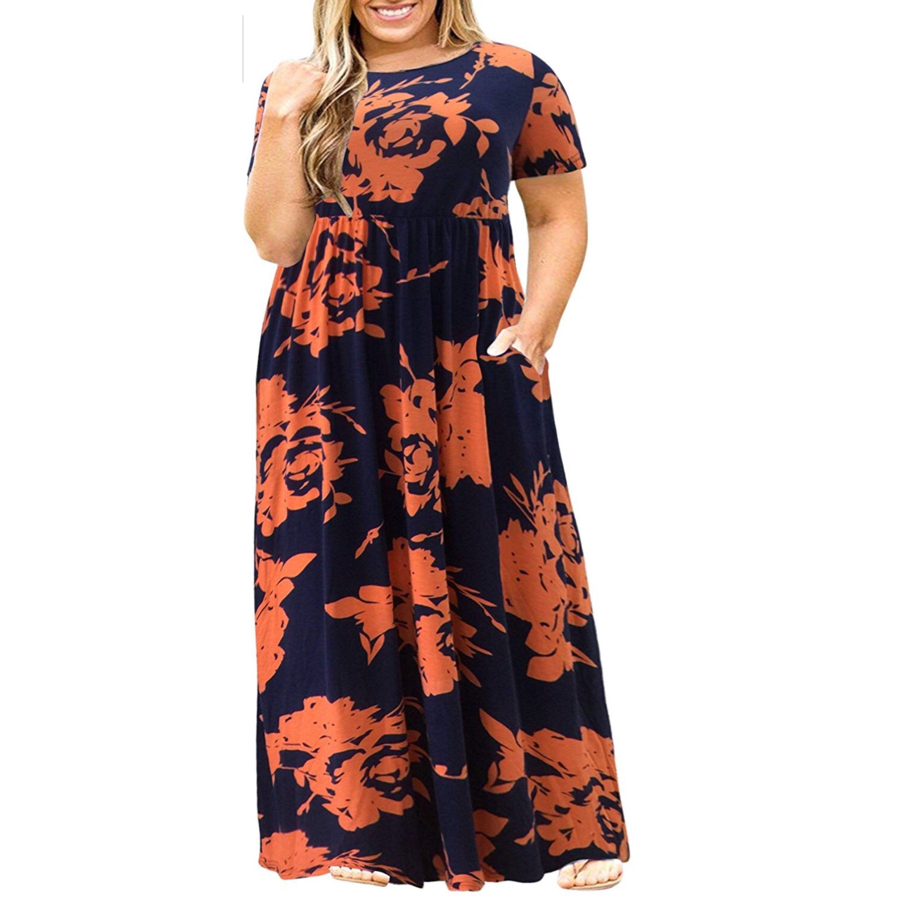Casual Loose Plus Size Maxi Dress Us Sizes 14 Plus 26 Plus In 2021 Casual Dresses Plus Size Maxi Dress Plus Size Maxi Dresses [ 3072 x 3072 Pixel ]