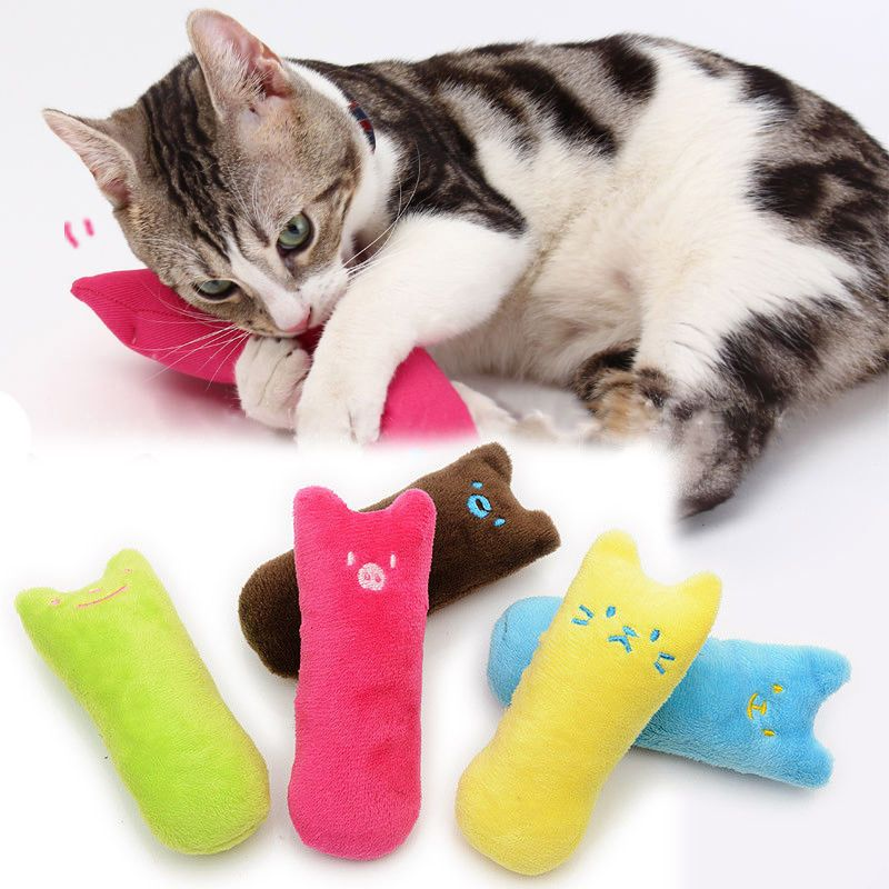 For Pets Funny Interactive Fancy Catnip Cat Pillow Toy Teeth Grinding Claws GIFT
