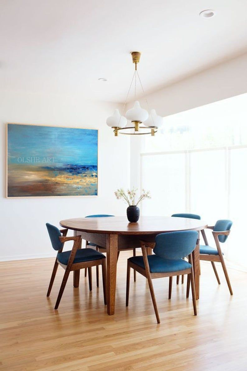 Hand Painting Original Painting On Canvas Room Decor Modern Etsy In 2020 Minimalist Dining Room Scandinavian Dining Room Mid Century Modern Dining Room