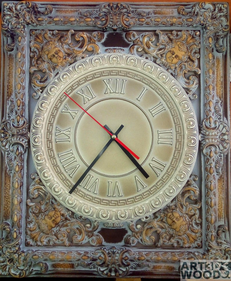 Pin On Wooden Wall Clock
