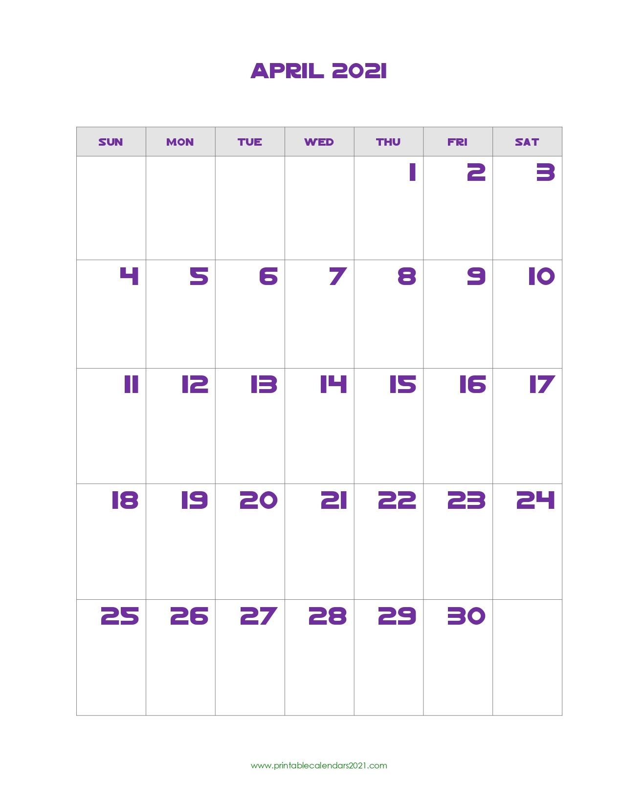 Printable Calendar April 2021 Printable 2021 Calendar With Holidays In 2020 Printable Calendar Calendar Printables Calendar