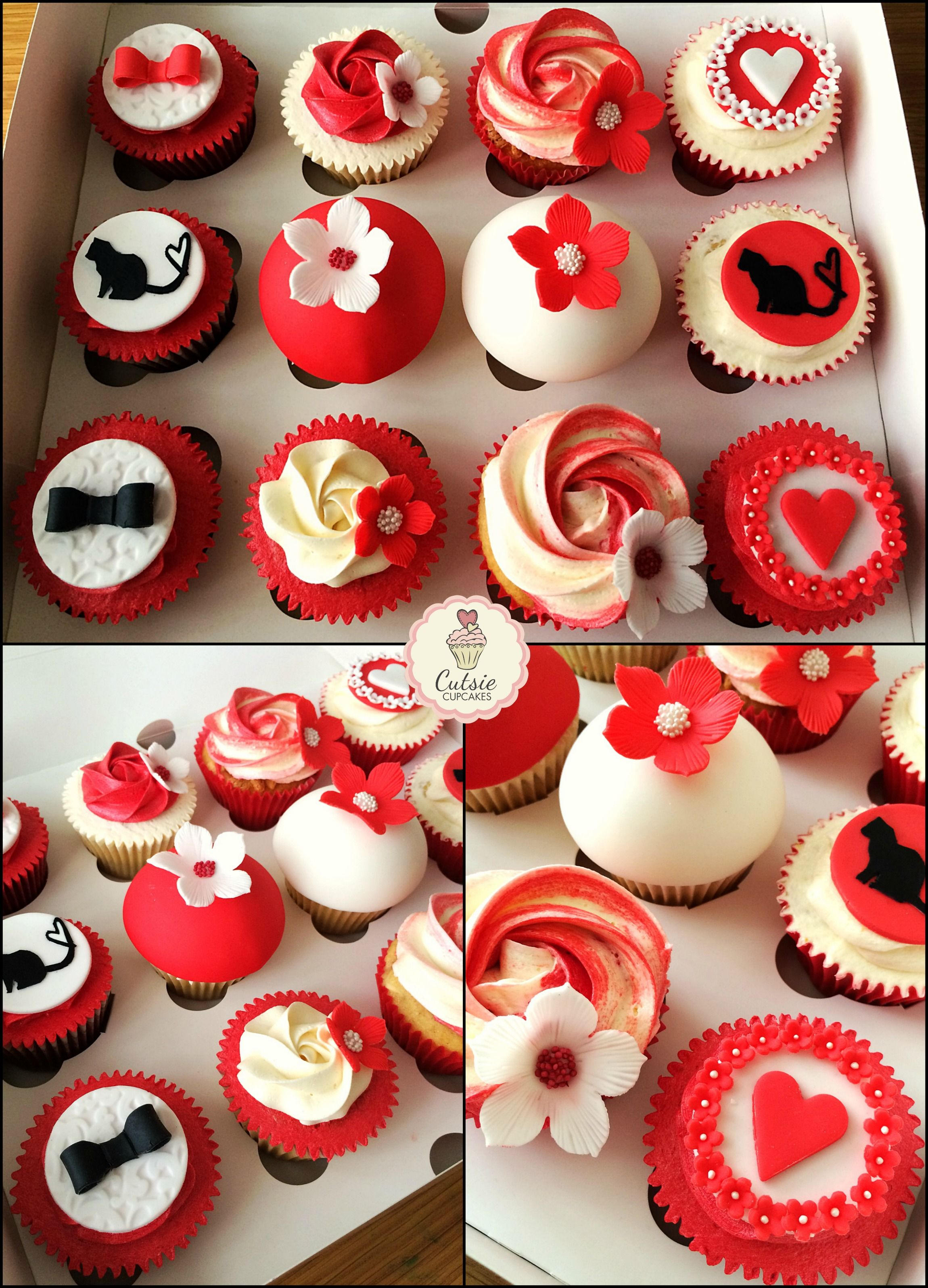 Wedding Consultation Cupcakes for a lovely couple The spec was Red