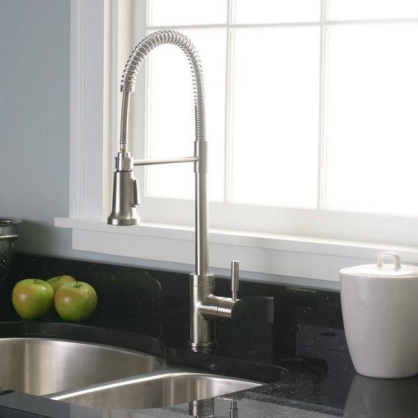 Premier Essen Pull-Down Brushed Nickel Kitchen Faucet ...