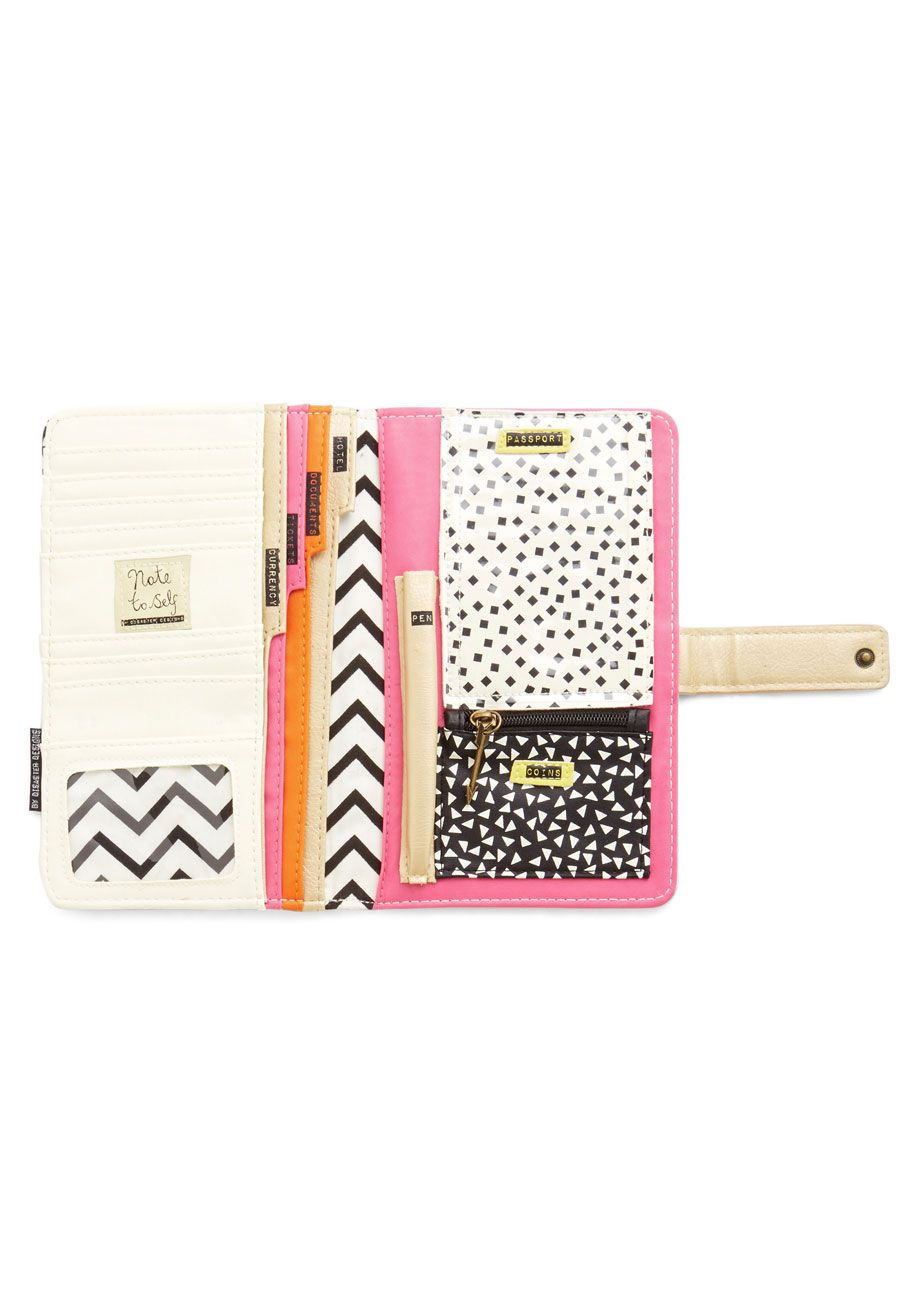 Colorful Spotted Girl Travel Passport /& Document Organizer Zipper Case