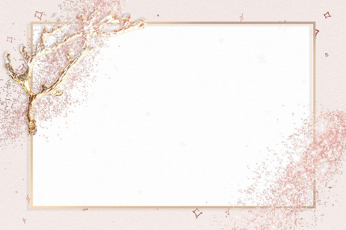 Download Premium Illustration Of Festive Pink Glitter Frame Psd Sparkly In 2020 Glitter Frame Rose Gold Backgrounds Sparkly Background