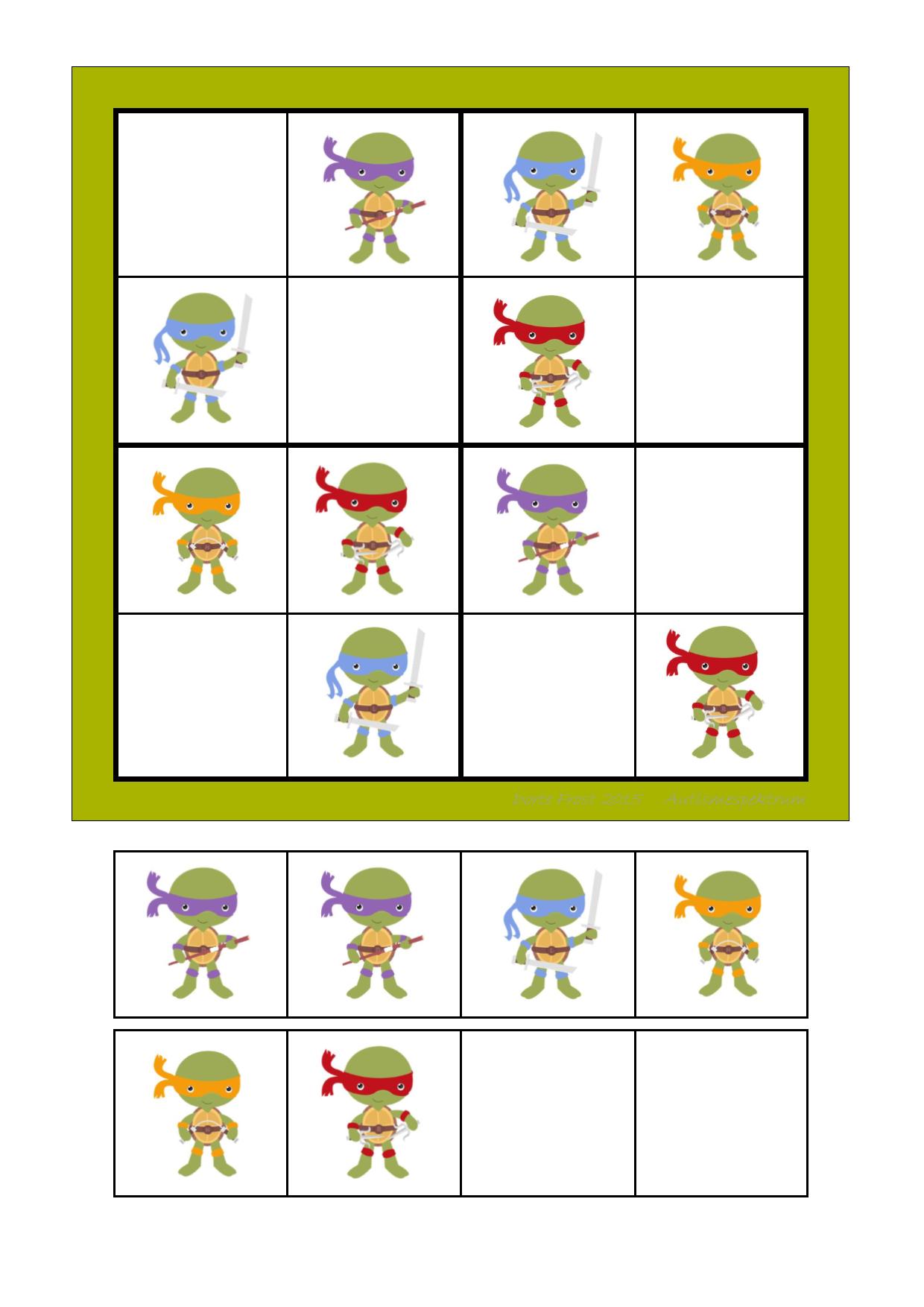 Sudoku for Kids – Candy | Mathe, Autismus und Arbeitsblätter