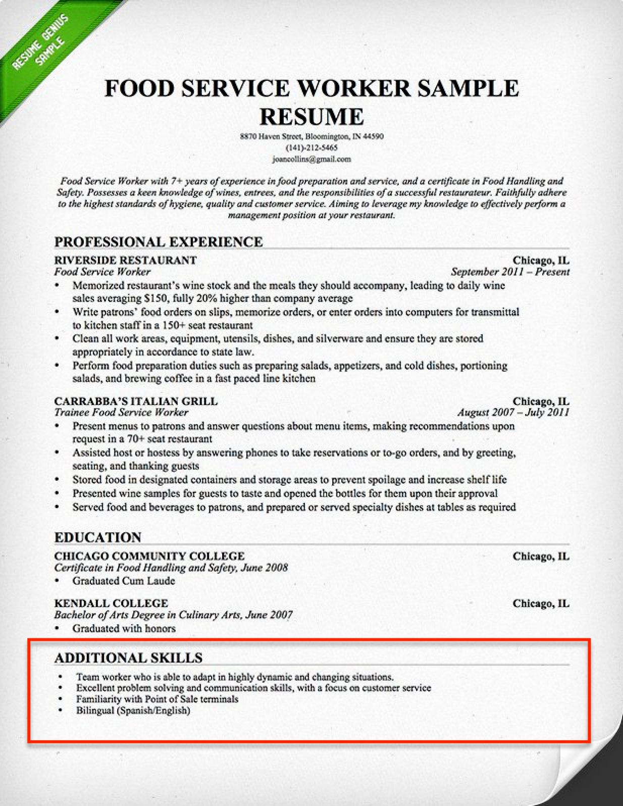 Resume Language Skills Example New Resume Skills Section