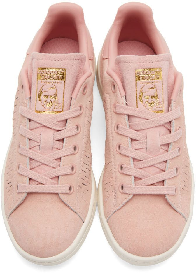 pretty nice 2737c 3dc25 adidas Originals - Pink Suede Stan Smith Sneakers