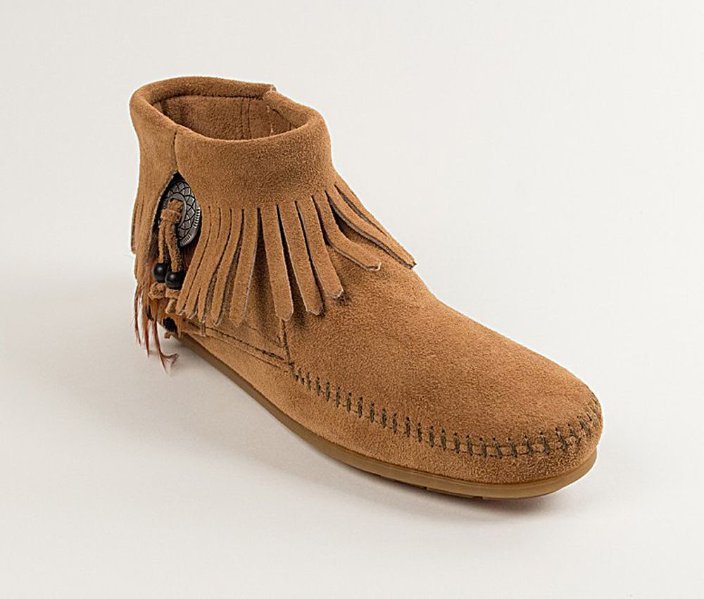 Women's Minnetonka Concho Feather Taupe Boots