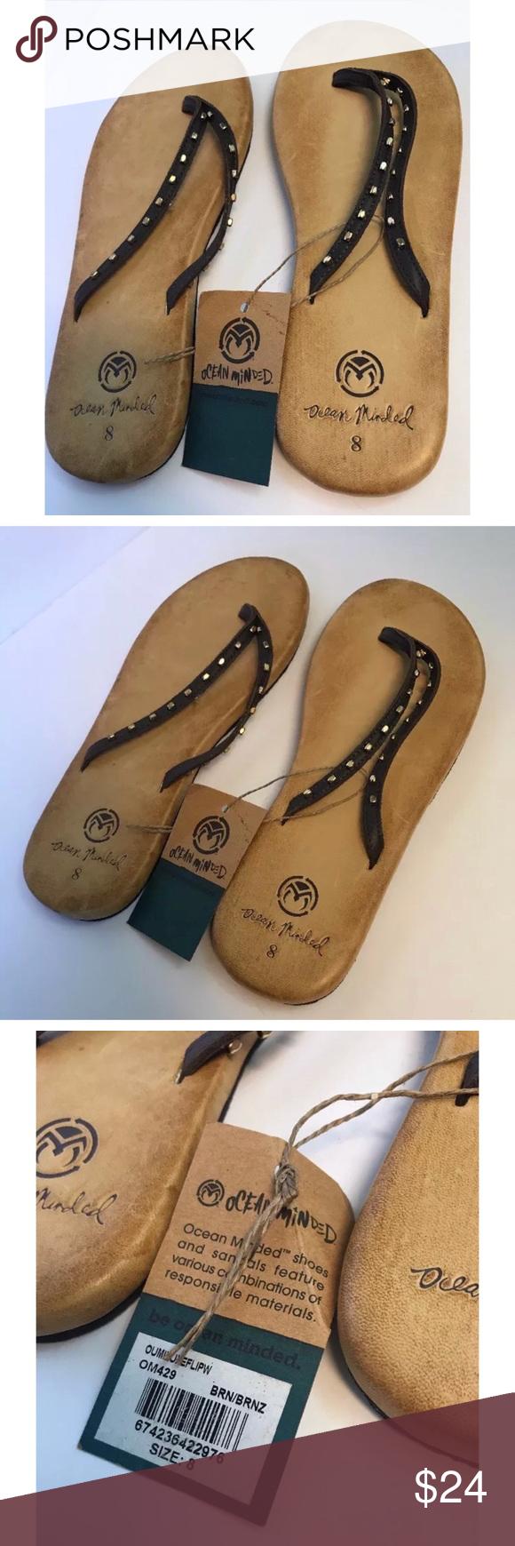 19083726211f Crocs Ocean Minded Leather Flip Flops 8 Oumi Luxe Ocean Minded By Crocs  Women s US Size 8 leather flip flops