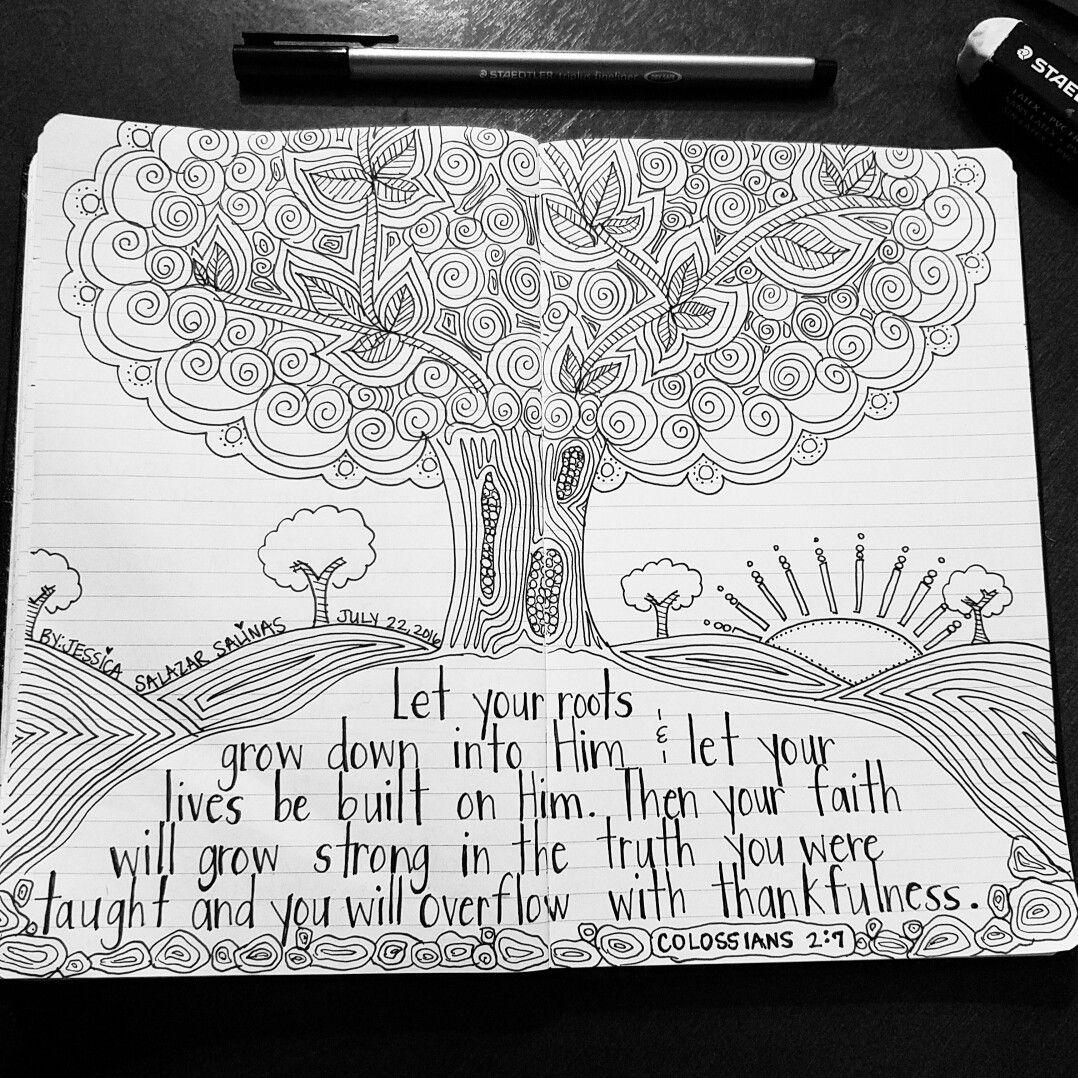Jessica S Journal Colossians 2 7 Scripture Doodles