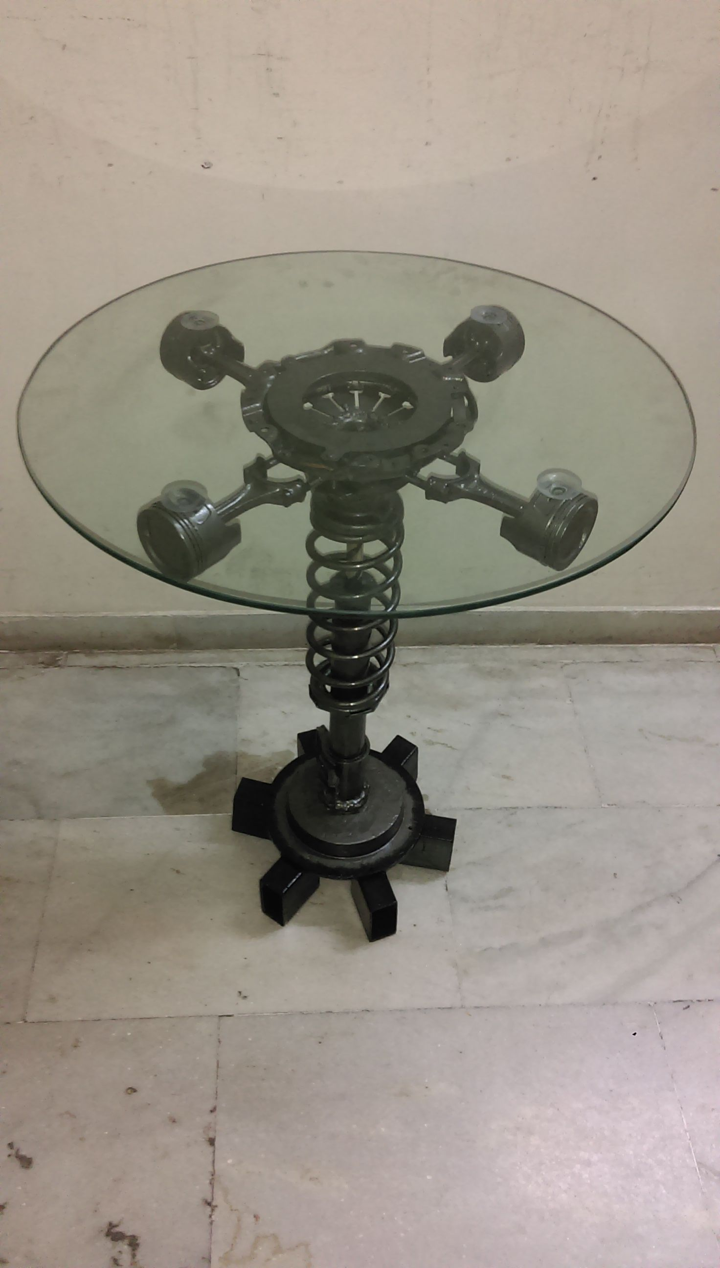 Coffee table made with old car parts | UCD | Pinterest