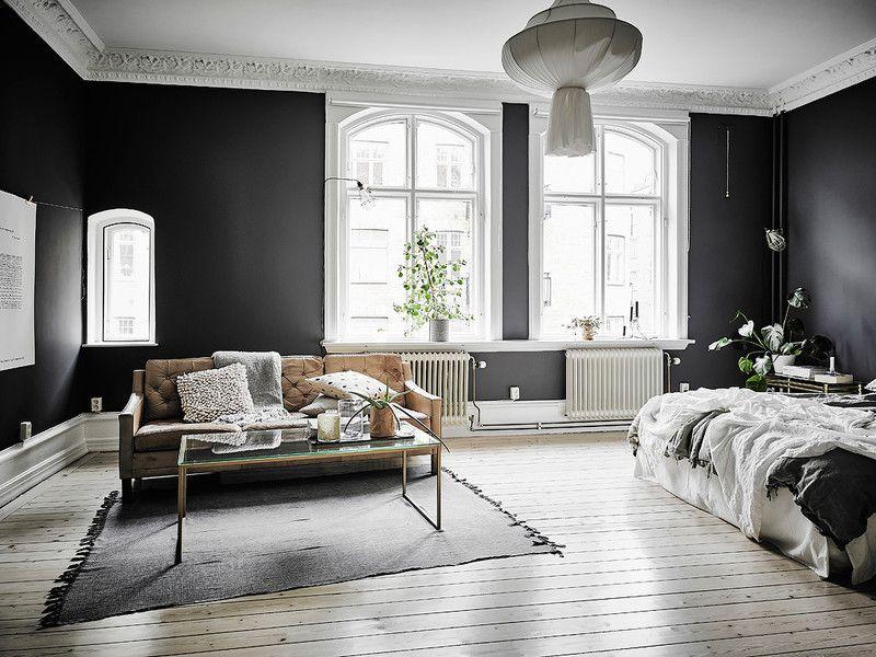 schluss mit wei en m beln und w nden schwarz ver ndert jedes interior deko trends 2018. Black Bedroom Furniture Sets. Home Design Ideas