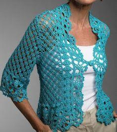 crochet jacket symbols only