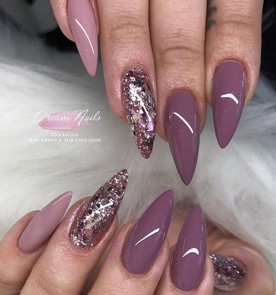 Trendy Gel Nail 2018 Best Instagram Nail Art With Images Mauve Nails Nails 2018 Stilletto Nails
