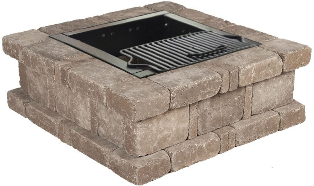 Pavestone Rumblestone™ Square Fire Pit No. 1 Installation Instructions #diy