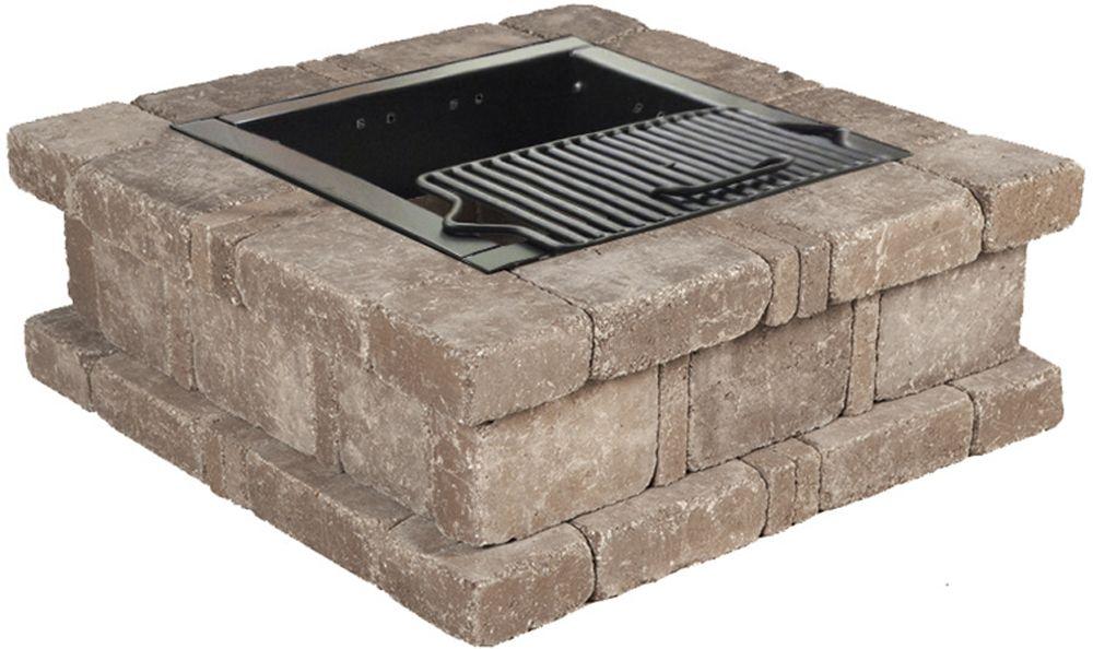 Pavestone Rumblestone Square Fire Pit No 1 Installation