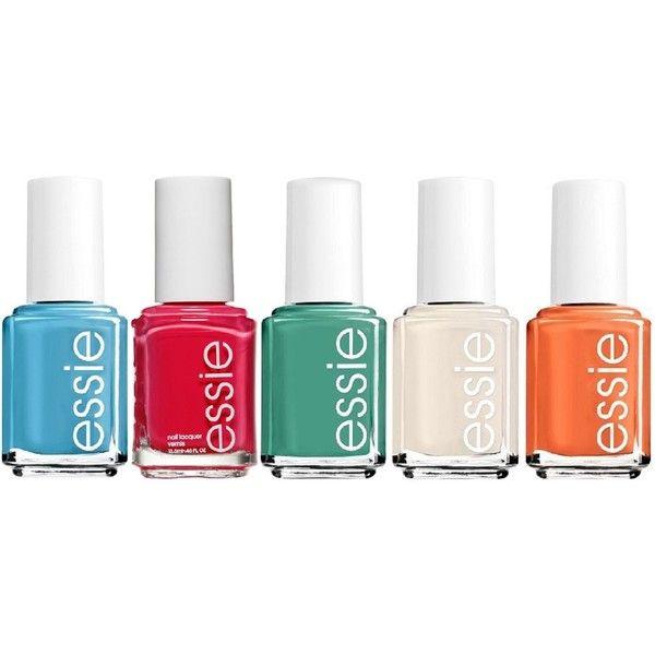 Essie Jungle 5-piece Nail Polish Set ($15) ❤ liked on Polyvore ...