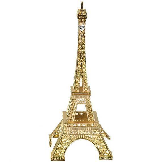 These Metal Eiffel Tower Centerpieces Are Painted To Your Custom Color And Come With A Sparkling Swarovski Crystal At Top One Side Sizes Availab